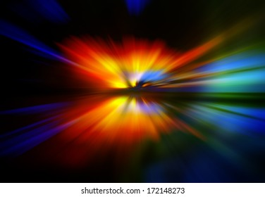Abstract background in red, blue and yellow colors.