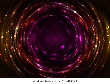 Abstract background red light circle. Illustration for design.