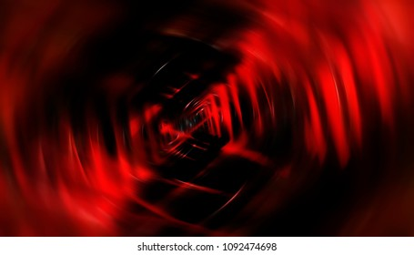 Abstract background red tunnel. Illustration beautiful.