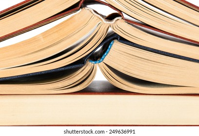 Abstract background of roots open books stacked on each other