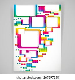 Abstract background with rounded frames.