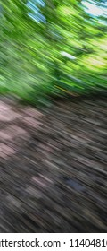Abstract background shot taken in the forest.  Blurred from cameral movement and showing natural colours.