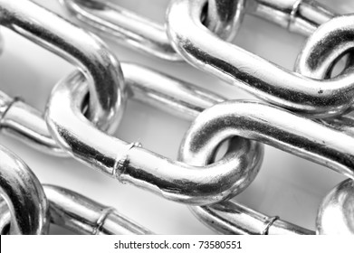 Abstract background of a silver chain