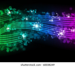 abstract background simulating flames and the effect boke
