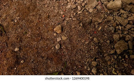 Abstract background of soil mixed with gravel.