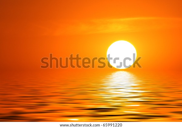abstract background with the sunset on it