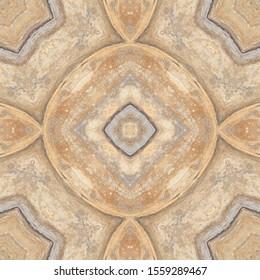 Abstract Background, Symmetry Design Decor for Floor Tiles