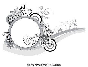 abstract background with text space and floral element
