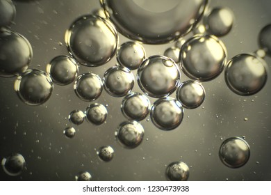 Abstract background and texture of bubbles with light illumination