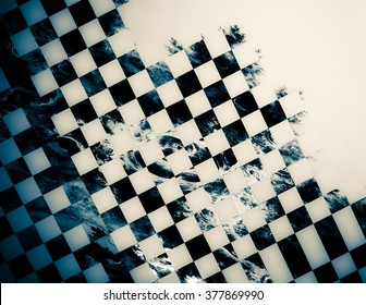 """Abstract background, texture of a checkered flag. Pattern for topics race, rally, car, automobile races. Grungy texture, is """"dirty"""" and some """"graininess"""""""
