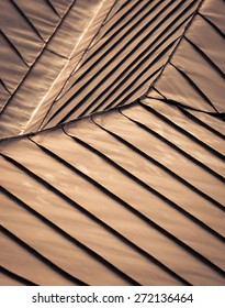 abstract background or texture detail brown steel roof
