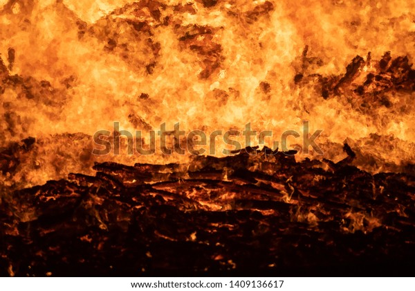 Abstract Background texture of Fire and Embers.