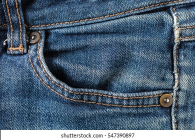 the abstract background texture of jeans pocket