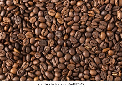 abstract background texture of roasted coffee in beans