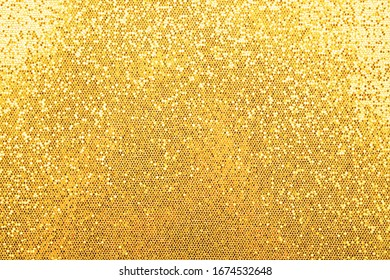 Abstract background texture of shiny golden glitter pattern light gradient - Shutterstock ID 1674532648