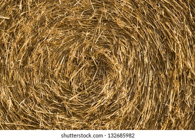 Abstract background texture of straw rolls