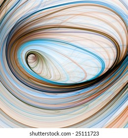 Abstract Background -  Threaded colorful textures in subtle spiral effect against white