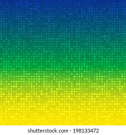 Abstract  Background using Brazil flag colors 2016, raster illustration