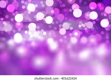 abstract background violet bokeh circles. Beautiful background with particles.