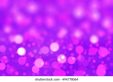 abstract background violet bokeh circles. Background with particles. illustration beautiful.