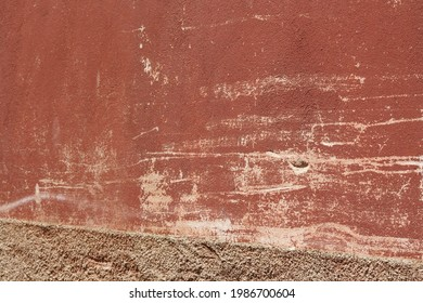 Abstract background, warm color, scratched wall, accidental art