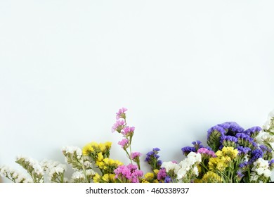 Abstract background of wild flowers