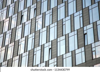 abstract background of windows in modern building. skyscrapper.