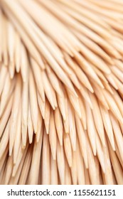 abstract background of wooden toothpicks close-up