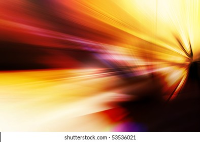 Abstract background in yellow, orange and red tones.