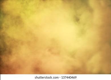 abstract background of yellow smoke