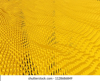 Abstract background in yellow.3d illustration