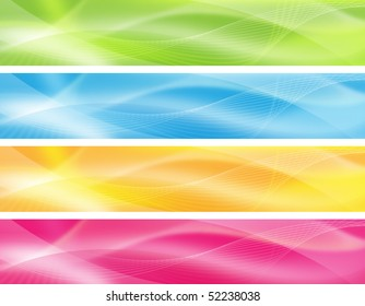 abstract backgrounds in 4 colors for product/website design