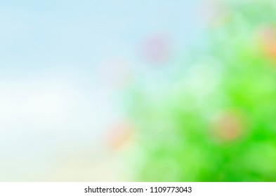Abstract backgrounds with green bokeh lights