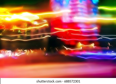 Abstract backgrounds from light streams