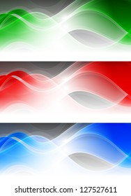 Abstract banners with elegant vibrant waves