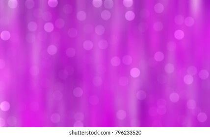 Abstract beautiful background with particles. llustration pink with bokeh circles.