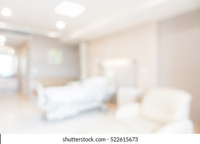 Abstract beautiful blur hospital interior for background