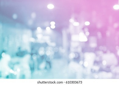 Abstract beautiful blurred shop background. Interior clean cafe pay lifestyle new counter bar concept for banner, billboard, mobile desktop wallpaper solution: Idea for insert create text and number.