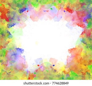 Abstract beautiful Colorful watercolor  painting  background, Colorful brush background