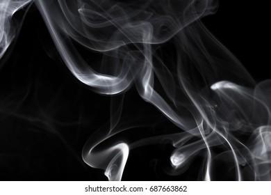 Abstract beautiful smoke on a black background