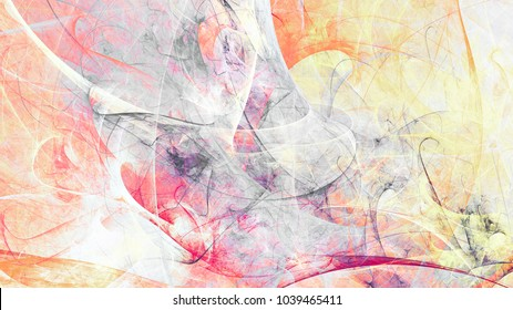 Abstract beautiful soft color background. Dynamic painting texture. Modern futuristic pattern. Fractal artwork for creative graphic design