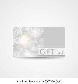 Abstract Beautiful Winter Christmas Gift Card Design,  Illustration.
