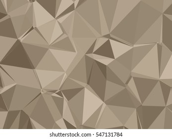 Abstract beige low poly background.