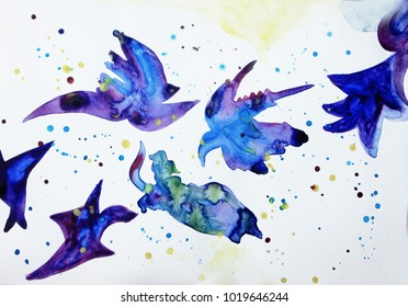 Abstract birds background