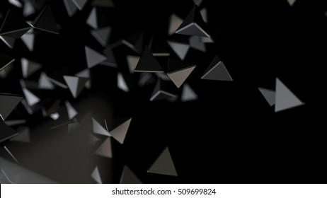 Abstract black background. 3d rendering