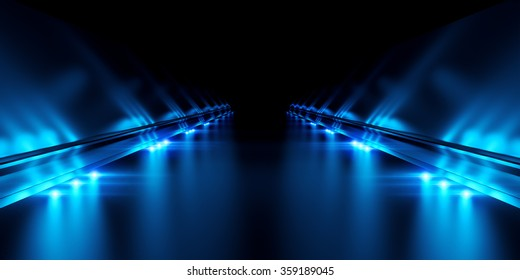 Abstract black background with illumination