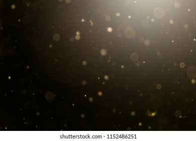 Abstract black bokeh  use for background
