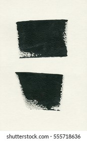 abstract black brush strokes on white canvas