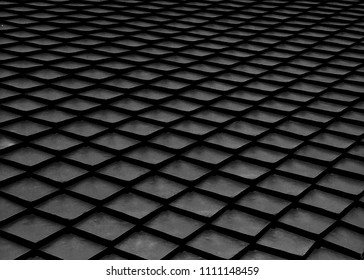 Abstract black dimond shape background, geometric,grid pattern.