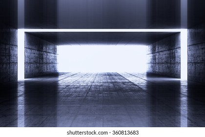 Abstract black geometric with light background. 3D render